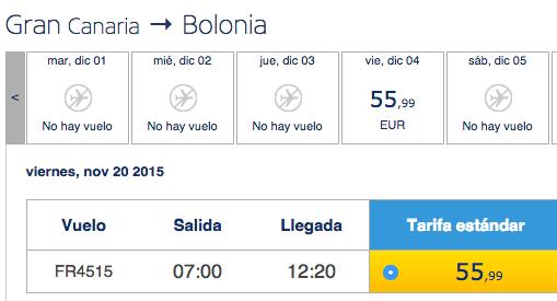 Volo diretto gran canaria Bologna